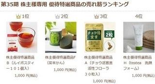 ティーライフ 第35期 株主様専用 優待特選商品の売れ筋ランキング.JPG